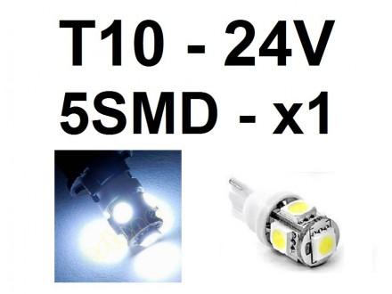 LED Sijalica - T10 pozicija - 24V - 5 SMD - 1 kom