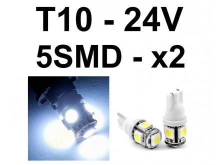 LED Sijalica - T10 pozicija - 24V - 5 SMD - 2 kom