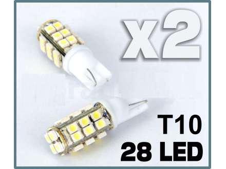 LED Sijalica - T10 pozicija - 28 dioda - 2 komada (par)