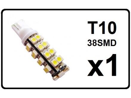LED Sijalica - T10 pozicija - 38 dioda - 1 komad