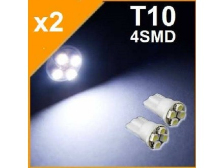 LED Sijalica - T10 pozicija - 4 SMD - 2 komada