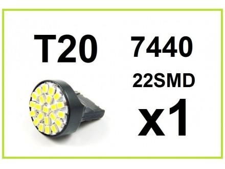 LED Sijalica - T20 - BELA - 22 SMD - 1 komad