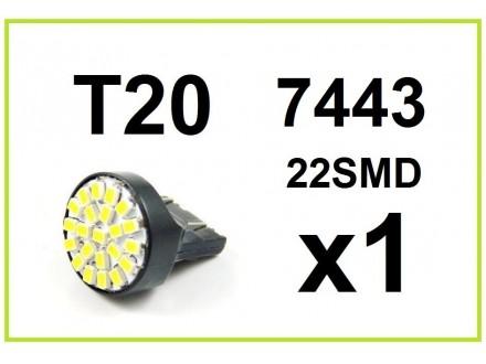 LED Sijalica - T20 - BELA - dva svetla - 1 komad