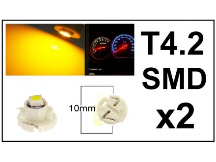 LED Sijalica - T4.2 za instrument tablu - 2 komada