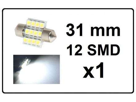 LED Sijalica - za unutrasnjost - 31 mm - 12 SMD - 1 kom