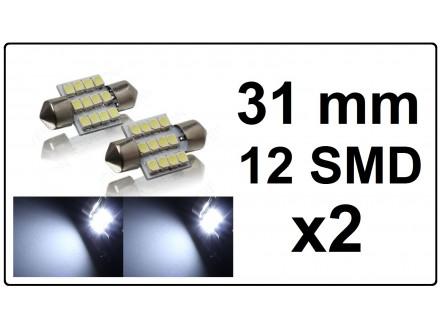 LED Sijalica - za unutrasnjost - 31 mm - 12 SMD - 2 kom