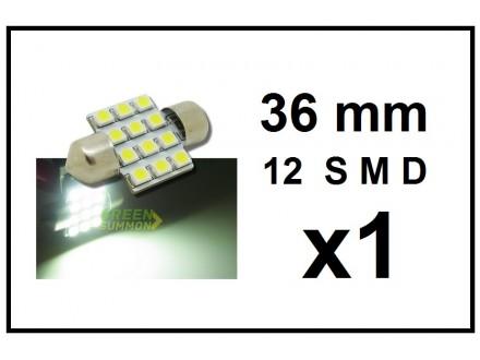 LED Sijalica - za unutrasnjost - 36 mm - 12 SMD - 1 kom