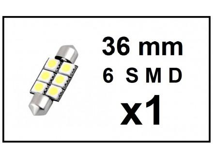 LED Sijalica - za unutrasnjost - 36 mm - 6 SMD - 1 kom