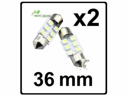 LED Sijalica - za unutrasnjost - 36 mm - 6 SMD - 2 kom