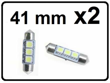 LED Sijalica - za unutrasnjost - 41 mm - 3 SMD - 2 kom