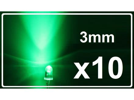LED dioda - Zelena - 3mm - 10 komada