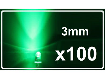 LED dioda - Zelena - 3mm - 100 komada