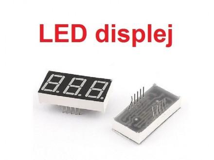 LED displej - 3 cifre - crveni - 0.36` - Anoda