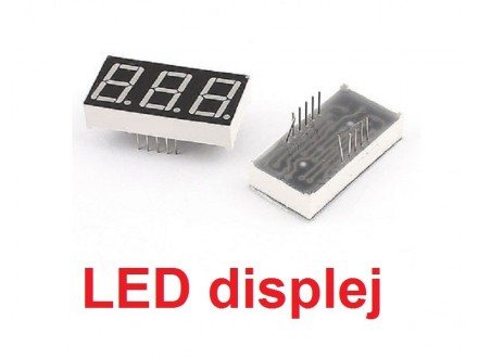 LED displej - 3 cifre - crveni - 0.56` - Anoda