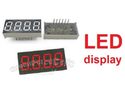 LED displej - 4 cifre - crveni - 0.36` - Anoda