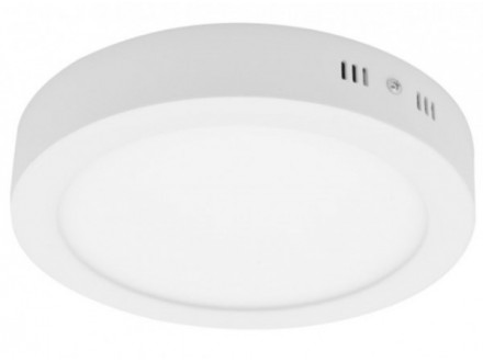 LED okrugla nadgradna panel svetiljka 6W 3000K toplo bela 120mm LNP-O-6/W-B