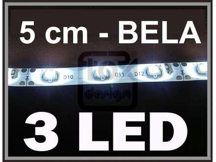LED traka JEDAN segment 5 cm samolepljiv - BELA
