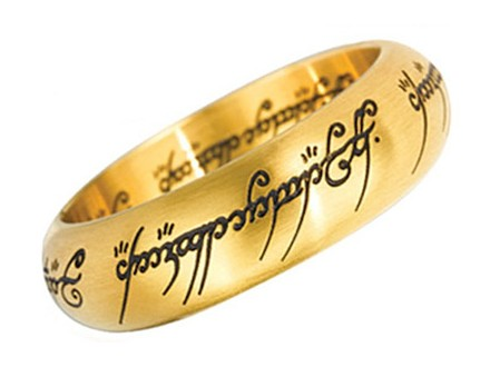 LOTR Prsten - One Ring, Gold - Lord of the Rings