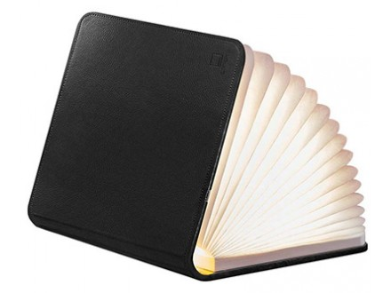 Lampa - Book, Black Leather, S