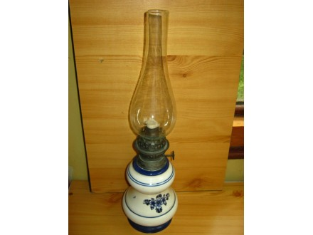 Lampa na gas, blue delfts hand painted made in holland