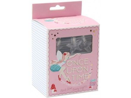 Lampice - Once Upon A Time, Pink Star String Lights