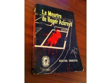 Le Muertre de Roger Ackroyd Agatha Christie