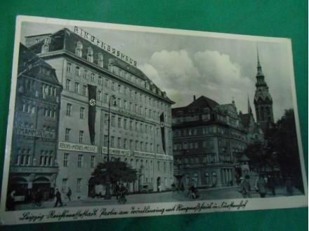 Leipzig -Reichsmessestadt-WWII zastave kukasti krst