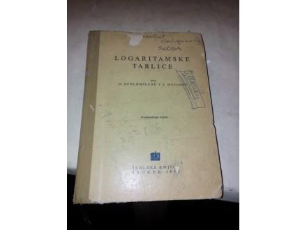 Logaritamske tablice - O. Schlomilch J. Majcen