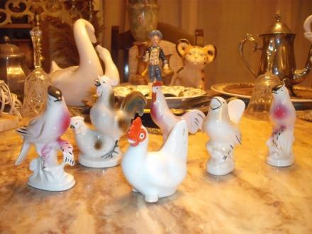 Lot ptica od keramike