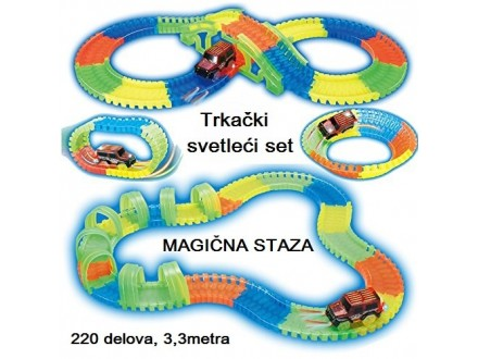 MAGIČNA staza SVETLEĆI trkački set
