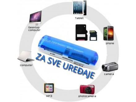 MOĆNI USB čitač kartica 43 u 1