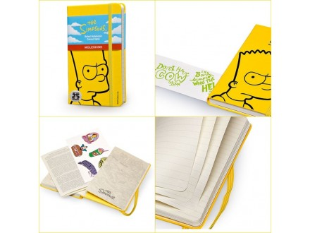 MOLESKINE Notebook 9x14 P 32425 The Simpsons
