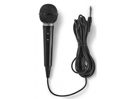 MPWD01BK Karaoke mikrofon, 6.35mm -75dB+/-3dB, Sensitivity, 80Hz-12kHz, 5.0m