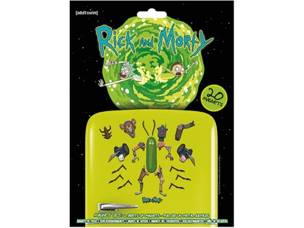 Magnet set/20 - Rick and Morty, Weaponize The Pickle - Rick and Morty