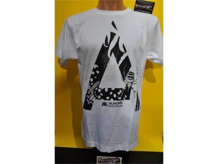 Majica Almond skateboard-bmx majica u beloj boji