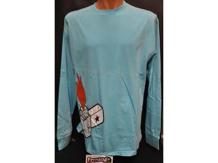 Majica dugih rukava CUBE `Upaljac`svetlo plava XL i XXL