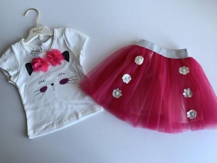 Majica i tutu suknja,komplet,Velicine-1,2,3 Roze
