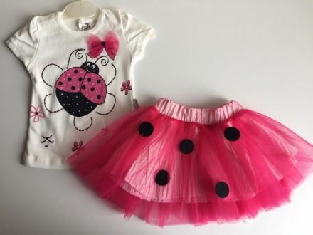 Majica i tutu suknja,komplet,Velicine-80 Roze