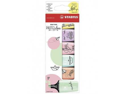 Markeri Stabilo - Boss Mini Pastel 1/6
