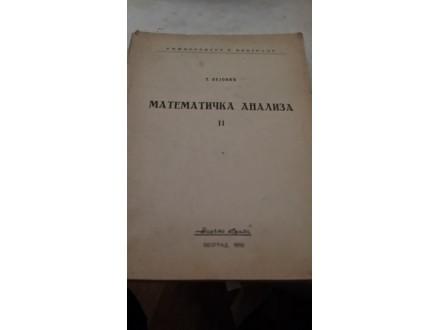 Matematička analiza II - T. Pejović