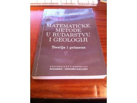 Matematičke metode u rudarstvu i geologiji Vujić Ivić