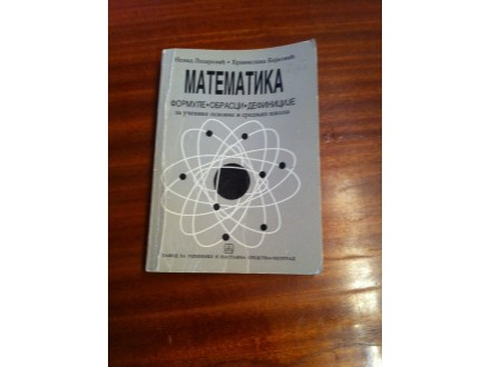 Matematika formule obrasci definicije
