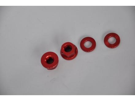 Matice Dartmoor za osovinu tocka anodizirane crvene 10m