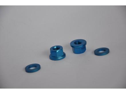 Matice Dartmoor za osovinu tocka plave 10mm nove par