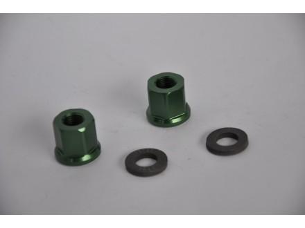 Matice Dartmoor zelene dugacke 10mm dugacke ALU par nov
