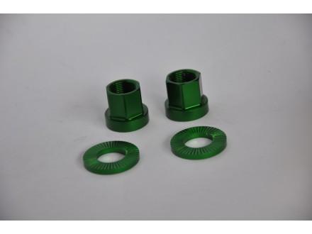 Matice za osovinu tocka BMX Dartmoor zelene nove 14mm