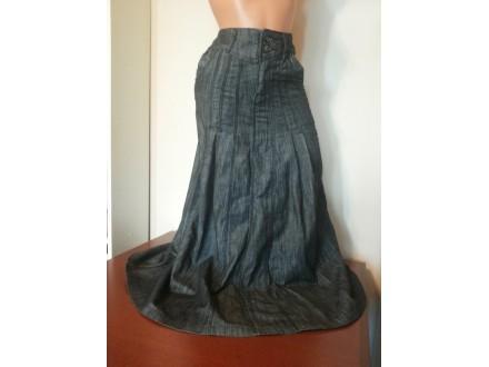 Maxi dugačka teksas suknja
