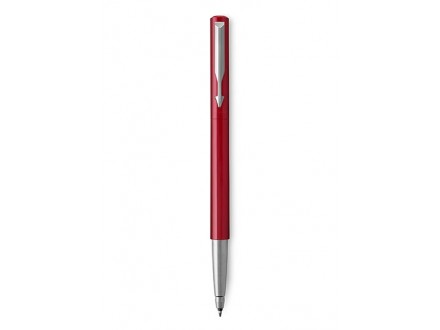 Medium Vector Chrome Trim Point Rollerball Pen Red With Blue Ink - Parker