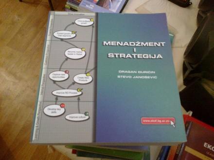 Menadžment i strategija - Đuričin; Janošević
