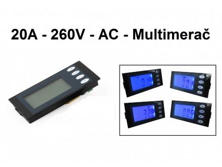 Merač snage, energije, napona i struje - 20A - AC